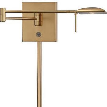 George Kovacs Gold LED Swing Arm Wall Lamp I LightsOnline.com