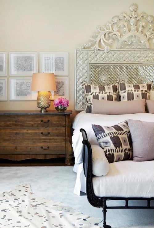 metal headboard eclectic bedroom chango co