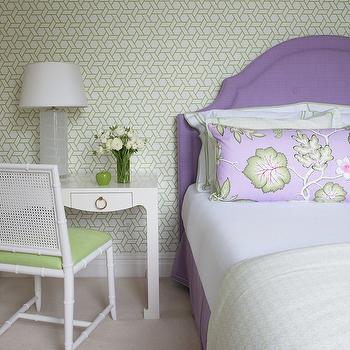 Purple Headboard, Transitional, girl's room, Kerry Hanson Design