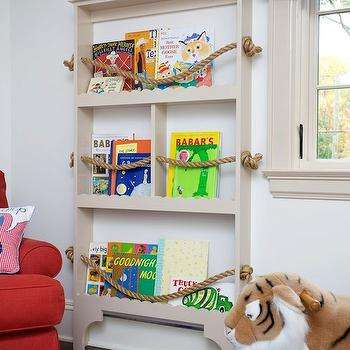 Rope Bookcase, Traditional, boy's room, JCS Construction
