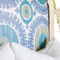 Bliss Design Firm - bedrooms - suzani fabric, turquoise and purple suzani fabric, suzani headboard, suzani fabric headboard, suzanni fabric, suzzani headboard,