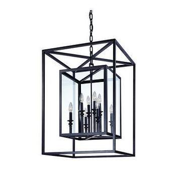 Lighting - Troy Lighting Morgan 8-Light Pendant I LightsOnline.com - glass and wrought iron lantern pendant, glass and wrought iron pendant,