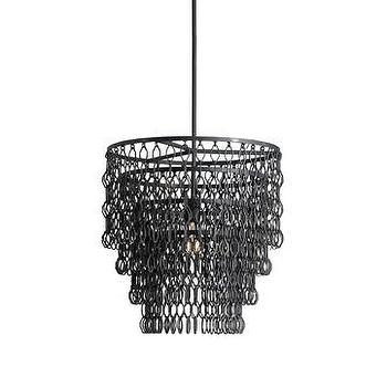 Lighting - Currey & Company Fenwick Pendant I LightsOnline.com - chainlink pendant, chain link pendant, linked chain pendant,