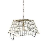 Lighting - Currey & Company Market Basket Pendant I LightsOnline.com - basket pendant, basket pendant light, wire basket pendant,