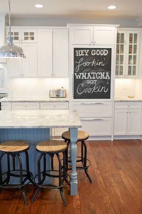 Beadbaord Kitchen Island - Transitional - kitchen - Britt Lakin