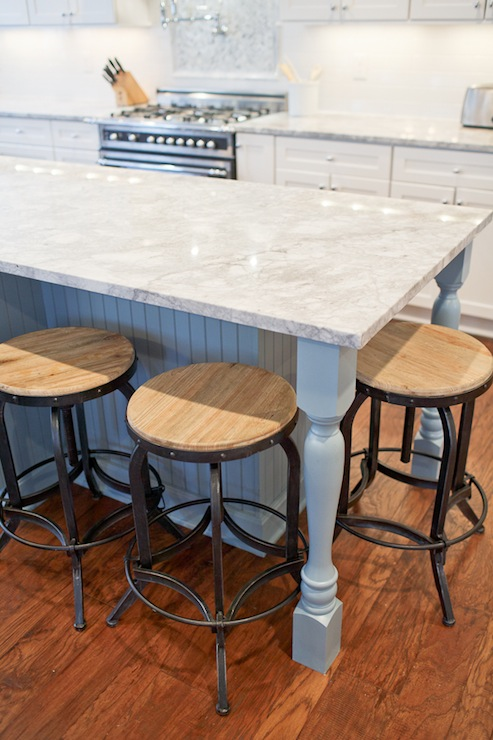 Vermont White Granite - Transitional - kitchen - Britt Lakin