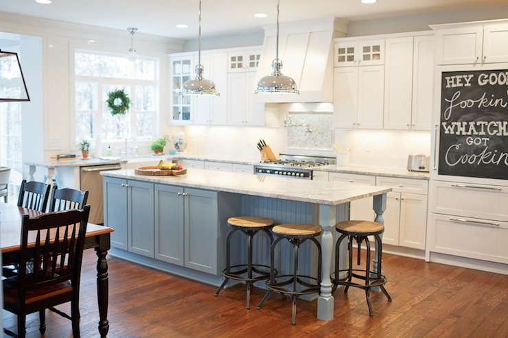 Two Tone Kitchen - Transitional - kitchen - Britt Lakin Photography