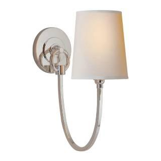 Lighting - Visual Comfort Thomas O Brien Reed 1 Light Wall Sconce I Home Click - polished nickel wall sconce, vintage modern wall sconce, polished nickel modern vintage wall sconce,