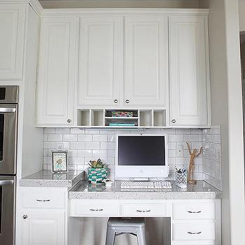 Desk in Kitchen, Transitional, kitchen, Jana Bek Design