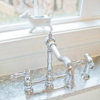 Britt Lakin Photography - kitchens - perrin and row faucet, vermont white granite, vermont white granite countertops,  Lovely kitchen with Vermont