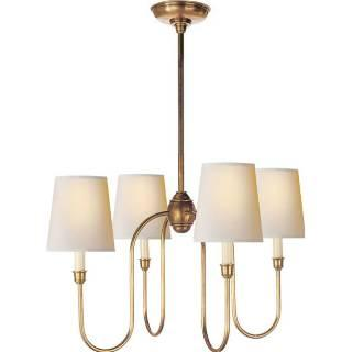 Lighting - Visual Comfort Thomas O Brien Vendome Small 4 Light Chandelier I Home Click - antiqued brass chandelier, antique brass chandelier, contemporary brass chandelier,