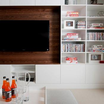 Built In Media Cabinet, Contemporary, living room, Portico Design Group