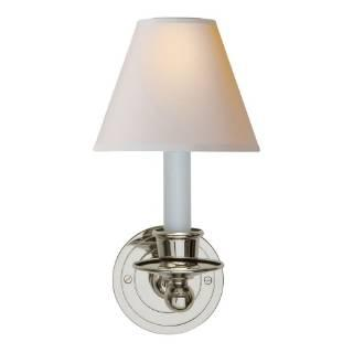 Lighting - Visual Comfort Studio Classic 1 Light Wall Sconce I Home Click - polished nickel wall sconce, polished nickel wall sconce with shade,