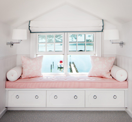 Kids Built In Window Seat Transitional Bedroom Robyn
