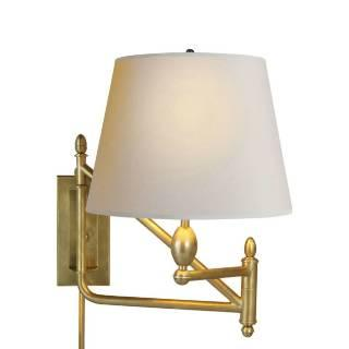 Lighting - Visual Comfort Thomas O Brien Small Paulo Bracket 1 Light Wall Sconce I Home Click - antiqued brass wall sconce, swing arm wall sconce, hand rubbed antique brass swing arm wall sconce,