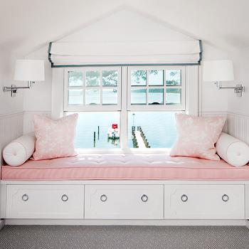 Kids Built In Window Seat, Transitional, bedroom, Robyn Karp Interiors