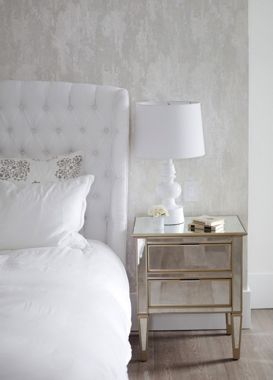 Mirror Nightstands Transitional Bedroom The Cross Decor Design