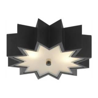 Lighting - Visual Comfort Alexa Hampton Odette 3 Light Flush Mount I Home Click - gun metal flush mount, star shaped flush mount, star shaped ceiling pendant,