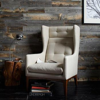 Seating - James Harrison Wing Chair - Fabric | west elm - modern tufted wing chair, cream tufted wing chair, modern tufted wing chair,