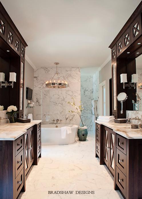 His And Her Vanities Transitional Bathroom Bradshaw