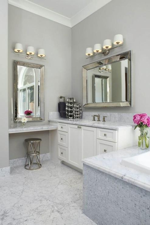 Floating Make Up Vanity - Transitional - bathroom - Fautt ...