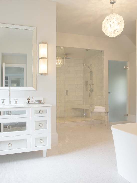 Water closet with frosted glass door contemporary - Bathroom vanity with frosted glass doors ...