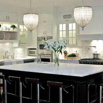 Black and White Kitchen Ideas, Transitional, kitchen, Susan Glick Interiors