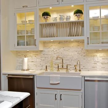 Plat Rack over Sink, Transitional, kitchen, Susan Glick Interiors