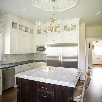 White Spring Granite Countertops, Transitional, kitchen, Kristin Petro Interiors