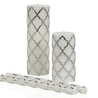 Decor/Accessories - Mimosa Candle Collection - Silver | Z Gallerie - silver moroccan tile candle, silver and white moroccan tile candle, moorish candle,