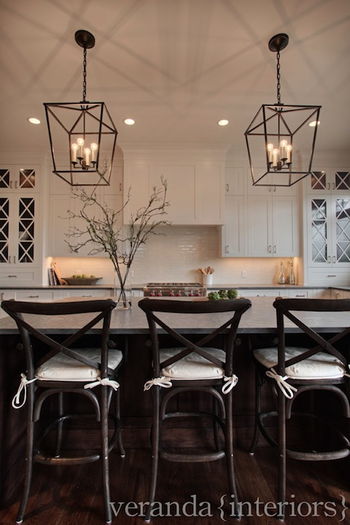 Leathered Granite Transitional Kitchen Veranda Interiors
