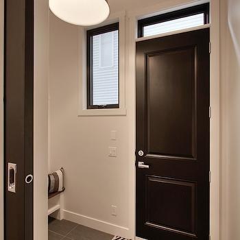 Black and White Rug, Contemporary, laundry room, Veranda Interiors