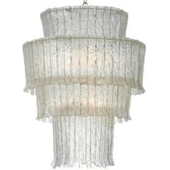 Lighting - Oly Studio Gisele Chandelier I Layla Grayce - tiered chandelier, tiered cast resin chandelier, waterfall style chandelier,