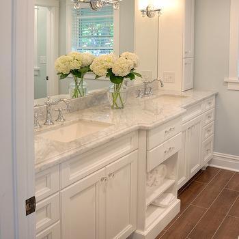 Wood Tiles Transitional Bathroom Benjamin Moore