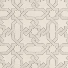 Fabrics - Cordoba Embroidery Pearl Fabric by the Yard I Layla Grayce - gray and white moorish style fabric, gray and white geometric fabric, gray and white moroccan style fabric,
