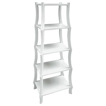 Storage Furniture - Oly Studio Lia Petite Childrens Shelf I Layla Grayce - white childrens shelf, small white etagere, modern white kids room shelving,