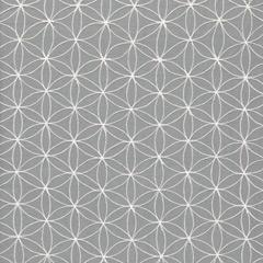 Fabrics - Kaleidoscope Smoke Fabric by the Yard I Layla Grayce - gray and white geometric fabric, gray and white chain stitch fabric, gray and white interlocking circles fabric,