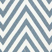 Fabrics - Martyn Lawrence Bullard Nebaha Embroidery Sky Fabric by the Yard I Layla Grayce - blue and white greek key fabric, greek key chevron fabric, blue and white greek key chevron fabric,