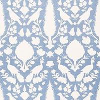 Fabrics - Chenonceau Sky Fabric by the Yard I Layla Grayce - blue and white french fabric, blue and white botanical fabric, blue and white nature inspired fabric,