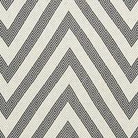Fabrics - Martyn Lawrence Bullard Nebaha Embroidery Charcoal Fabric by the Yard I Layla Grayce - greek key chevron fabric, gray and white greek key chevron fabric,