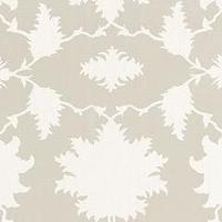 Fabrics - Mary McDonald Garden of Persia Dove Fabric by the Yard I Layla Grayce - dove gray and cream fabric, dove gray and cream floral fabric, dove gray and cream leaf print fabric,