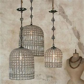 Lighting - Eloquence Birdcage Chandelier I Layla Grayce - faceted glass birdcage chandelier, faceted glass bead chandelier, beaded glass birdcage shaped chandelier,