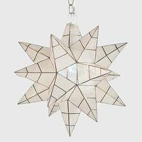 Lighting - Worlds Away Star Capiz Shell Pendant Large I Layla Grayce - star shaped pendant, capiz star pendant, capiz shell star pendant,