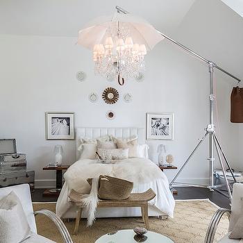Umbrella Chandelier, Eclectic, bedroom, Ally Coulter Designs