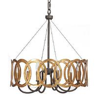 Lighting - Gabby Lighting Virginia Chandelier I Layla Grayce - interlocking gold circle chandelier, gold circle chandelier, antique gold circle chandelier,