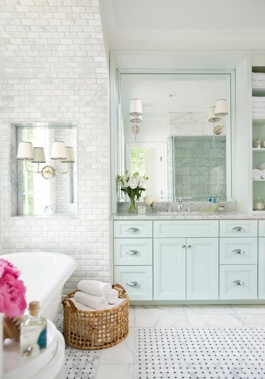 blue bathroom cabinets transitional bathroom mark williams design