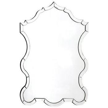 Mirrors - Warlock Mirror I Layla Grayce - mirror framed mirror, curved mirror framed mirror, mirror with mirrored border,