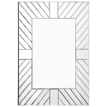 Mirrors - Sandstone Mirror I Layla Grayce - geometric mirror, modern mirror framed mirror, geometric sunburst mirror,