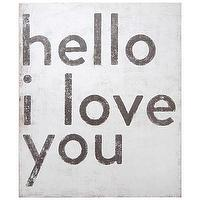 Art/Wall Decor - Sugarboo Designs Art Print Hello I Love You I Layla Grayce - hello i love you art, black and white love art, hello i love you black and white print,