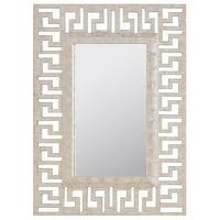 Mirrors - Worlds Away Mabrey Greek Key Cream Mirror I Layla Grayce - greek key mirror, capiz shell mirror, greek key capiz shell mirror,